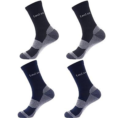 Laulax 4 pares de calcetines resistentes para trabajo, tamaño UK 7 – 11/Europa 41 – 46: Amazon.es: Ropa y accesorios