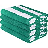 Amazon Price History for:Utopia Towels Large Beach Towel, Pool Towel, in Cabana Stripe - (4 pack, 30x60 inches) - Cotton - by