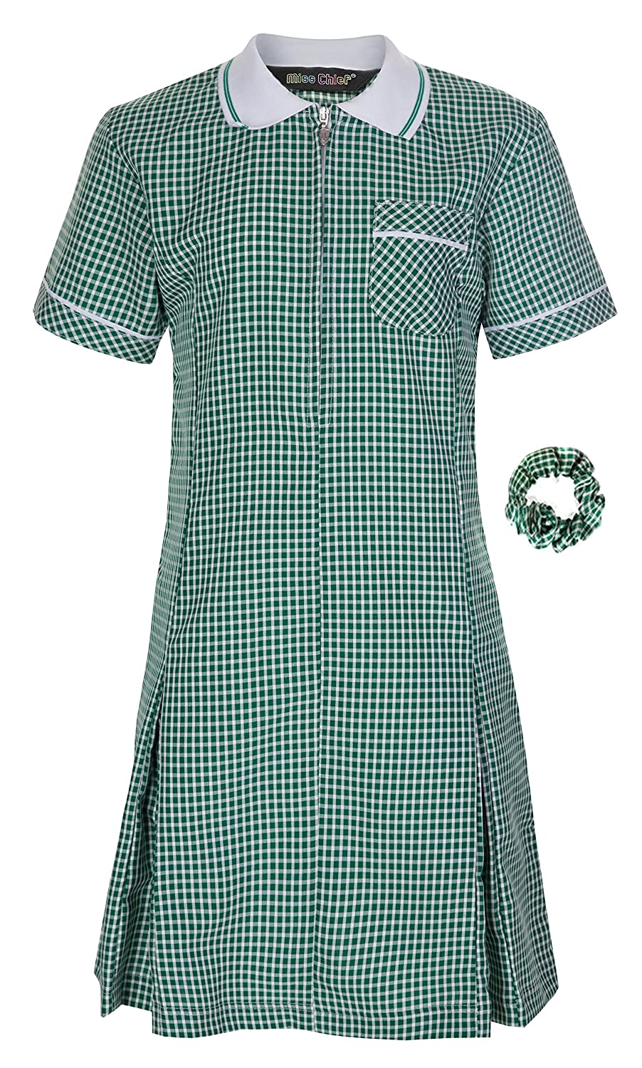 d1d3d5fdd3e Miss Chief Girl s School Gingham Summer Dress Age 3 4 5 6 7 8 9 10 11 12 13  14 15 16 17 18 20 Pleated  Amazon.co.uk  Clothing