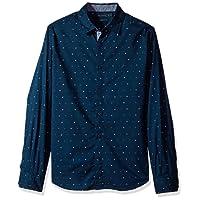 Nautica Men's Classic Fit Long Sleeve Print Pattern Button Down Shirt