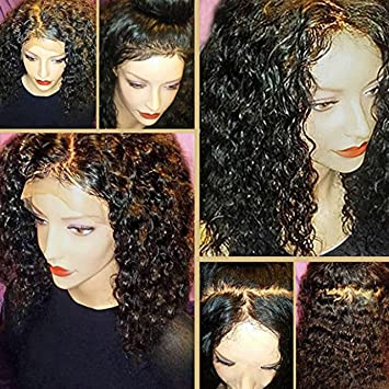 cff47d41c Lace Front Human Hair Wigs for Black Women Wet Wavy Brazilian Virgin Hair  Glueless Full Lace