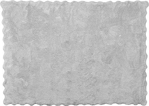Aratextil Lisa Alfombra Infantil, Algodón, Gris, 120 x 160 cm ...
