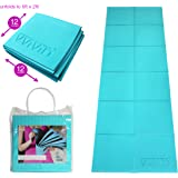 VViViD Foldable 6mm Thick PVC Padded Square Tile 6ft x 2ft Workout and Yoga Mat