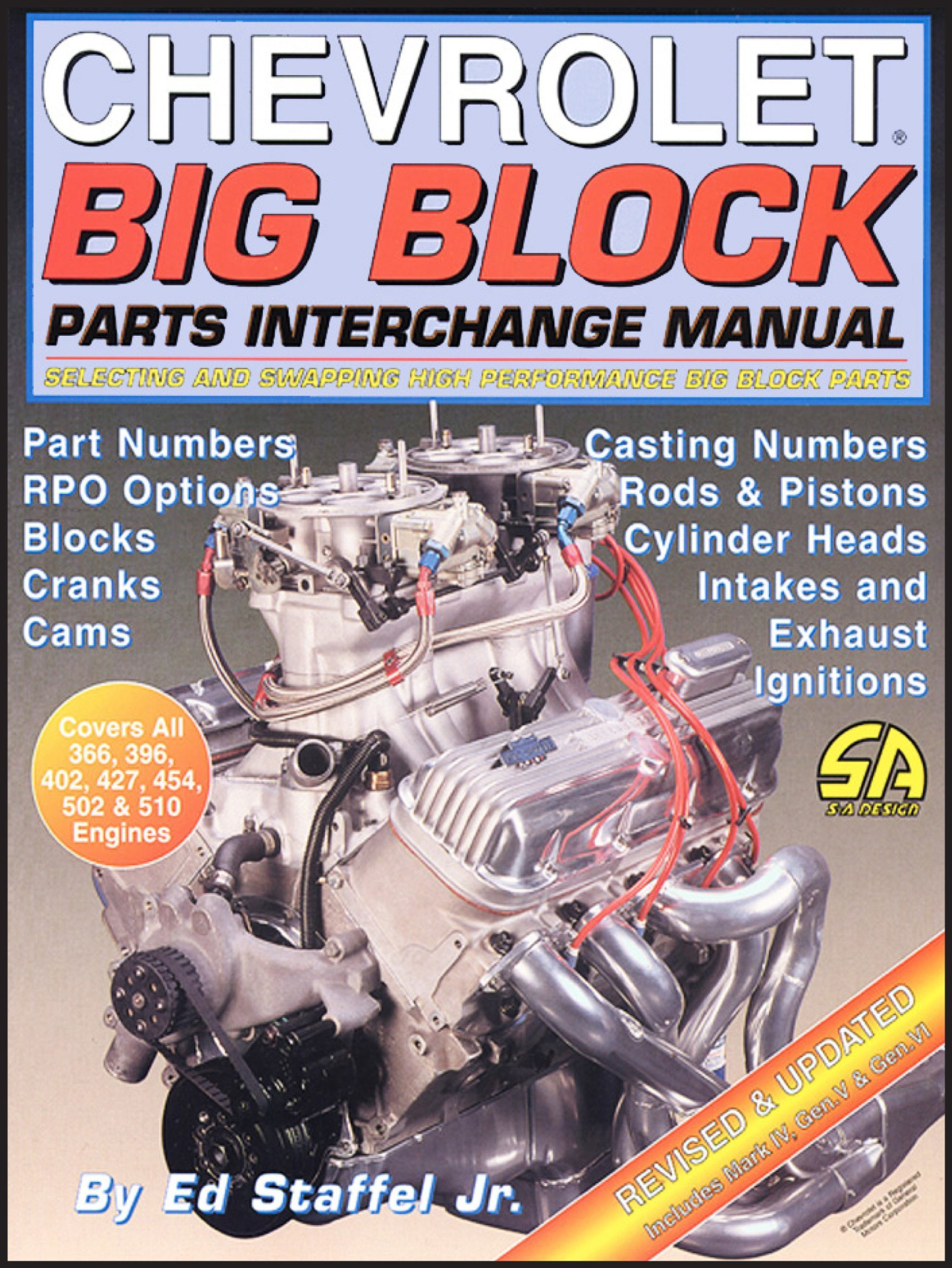 Chevrolet Big Block Parts Interchange Manual (S-A Design): Ed Staffel:  0601784000158: Amazon.com: Books
