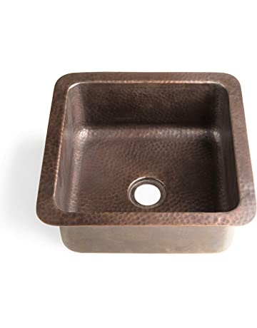 Monarch Abode 17093 Pure Copper Hand Hammered Glasgow Dual Mount Sink (12  Inches)