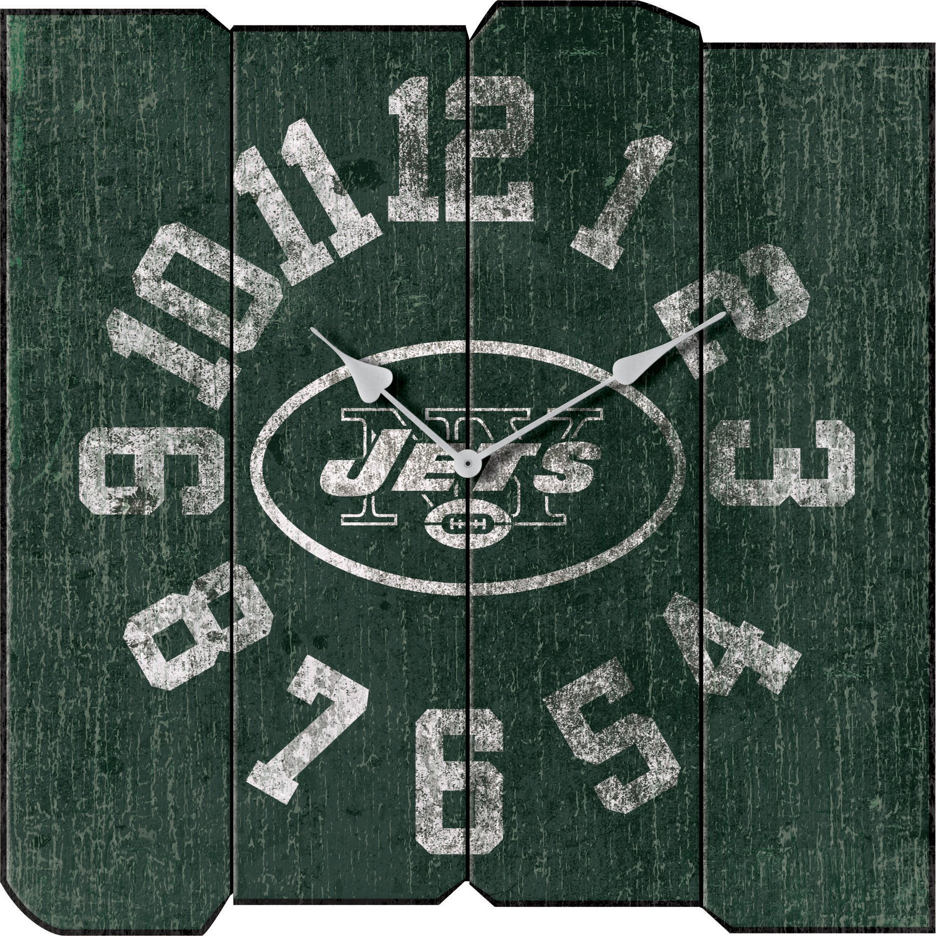 Imperial Officially Licensed NFL Merchandise: Vintage Square Clock, New York Jets by Imperial