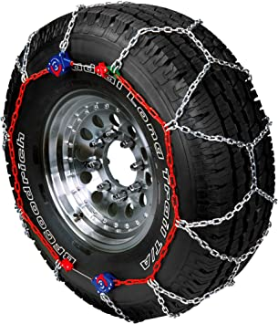 Security Chain Company SZ115 Super Z6 Cable Tire Chain for Passenger Cars and SUVs Pickups Set of 2