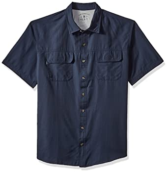 fd01cc352cd G.H. Bass & Co. Men's Big and Tall Explorer Fancy Short Sleeve Button Down  Shirt