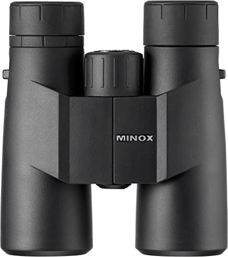 MINOX BF 8×42 Magnification Waterproof Compact Lightweight Anti-fog Binoculars with Nitrogen Filling, Twisting Eyecups and Tripod Socket