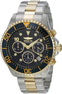 Invicta Mens Pro Diver Quartz Diving Watch with Stainless-Steel Strap, Two Tone,