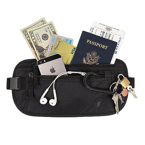 abf54ffd6 Cinturón de dinero slim de Nomalite | Riñonera de viaje para hombre y mujer  con 3 ...