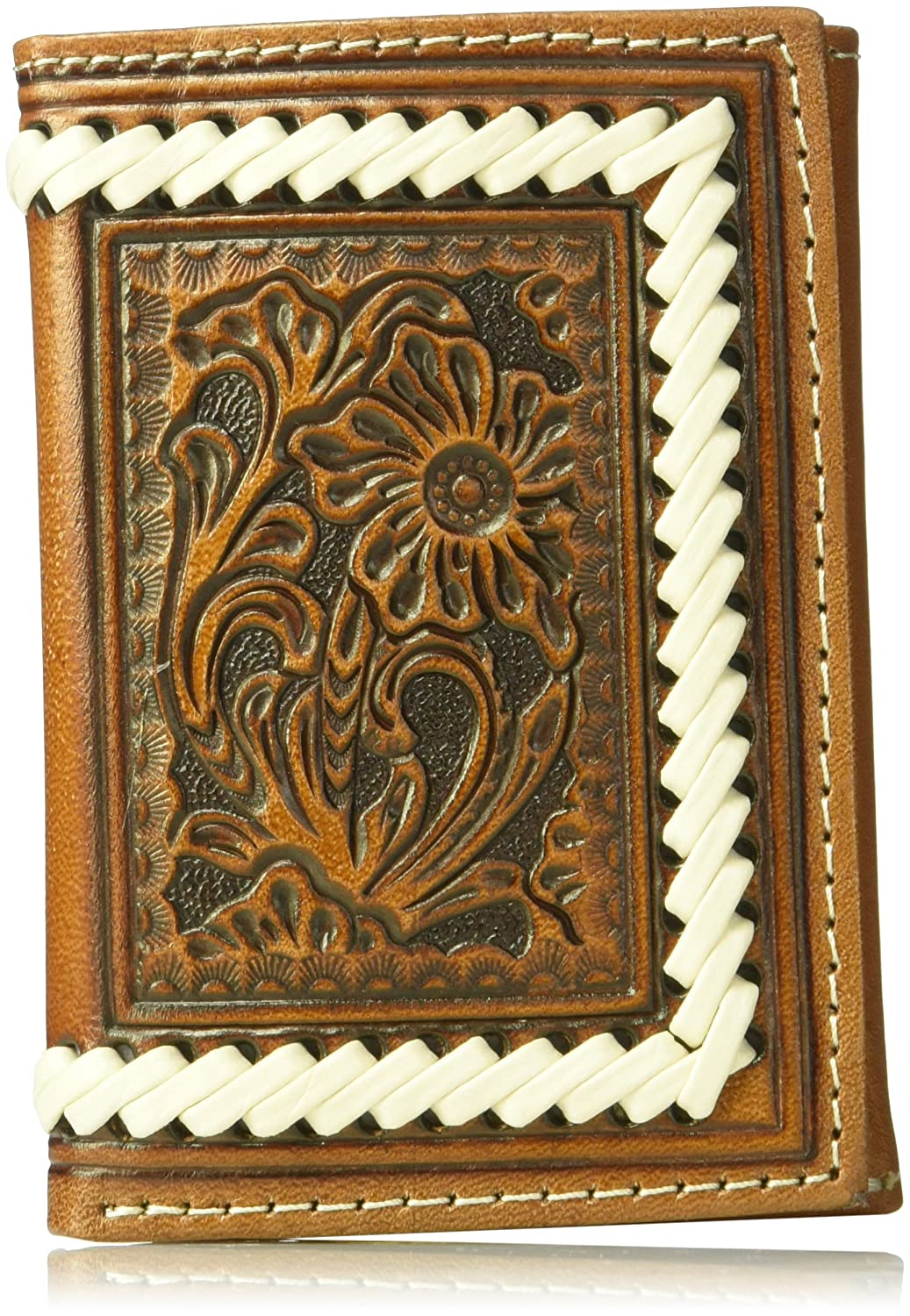 Ariat Floral Tope Edge Stitch Trifold