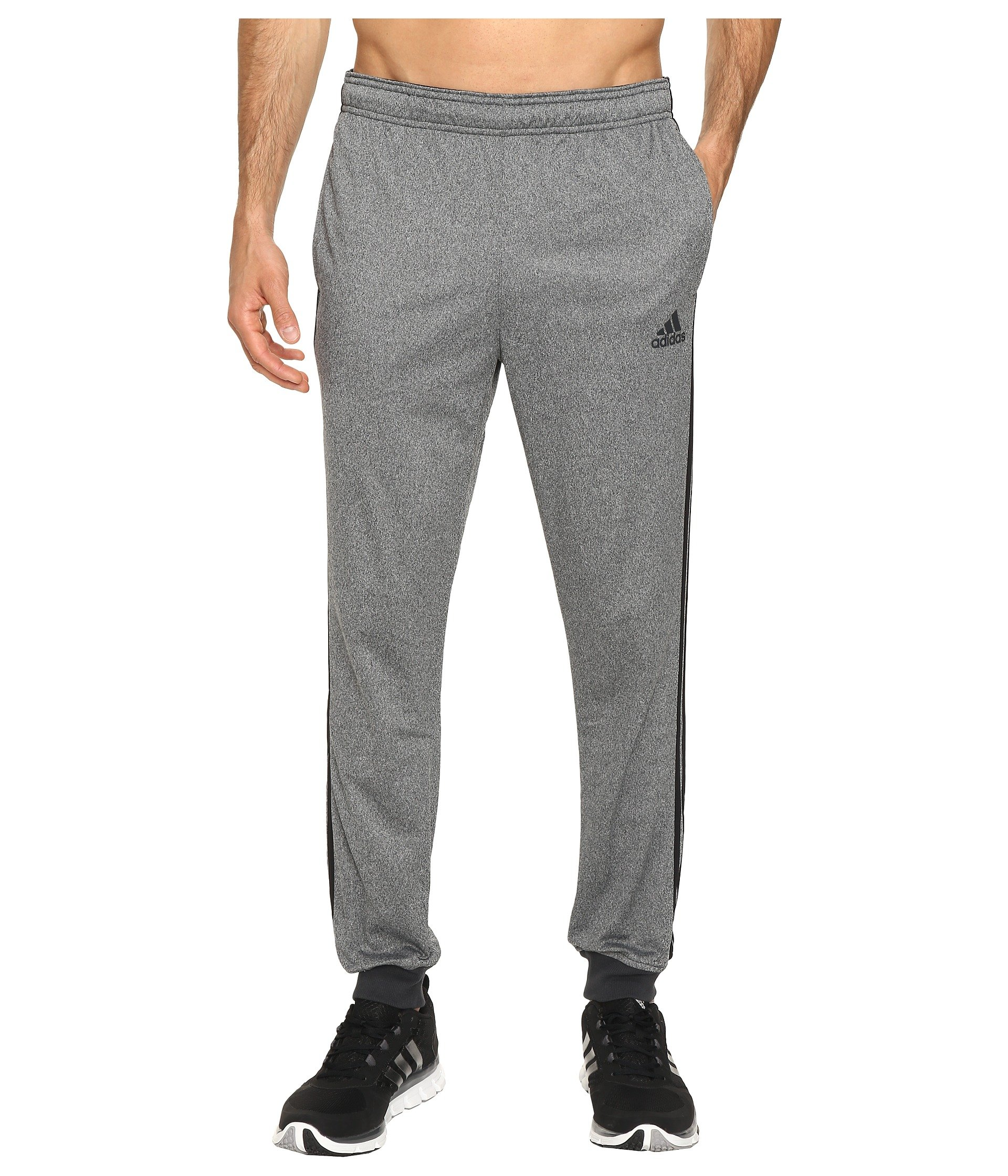 adidas Men's Essentials Tricot Jogger Pants, Dark Grey Heather/Black, X-Large by adidas
