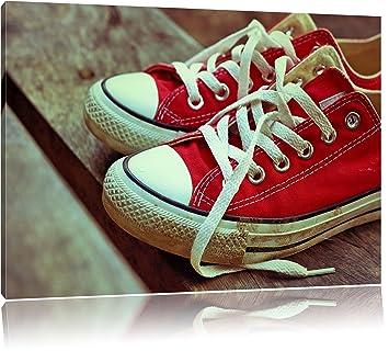 1c2a2b8b38f118 rote Converse Chucks Bild auf Leinwand