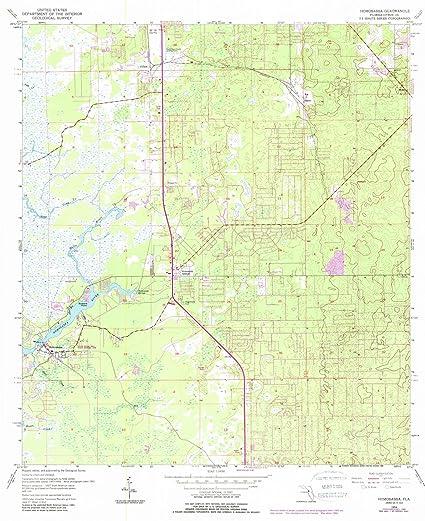 Homosassa Florida Map.Amazon Com Florida Maps 1954 Homosassa Fl Usgs Historical