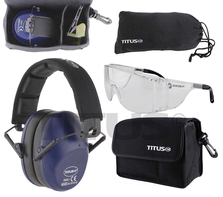 Titus 34db安全Earmuff &眼鏡コンボ Olive B076XSN17M Olive|G28 Smoke EMT Professional Glasses G28 Smoke EMT Professional Glasses Olive