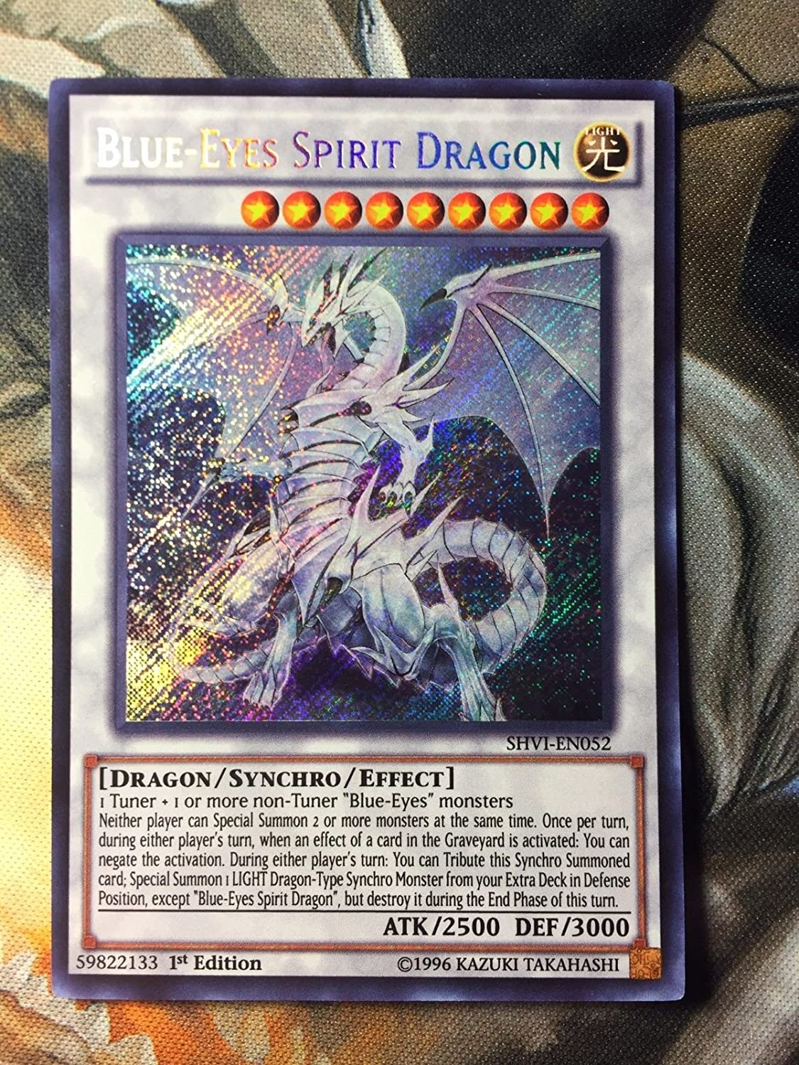 amazon com yugioh blue eyes spirit dragon shvi en052 secret rare