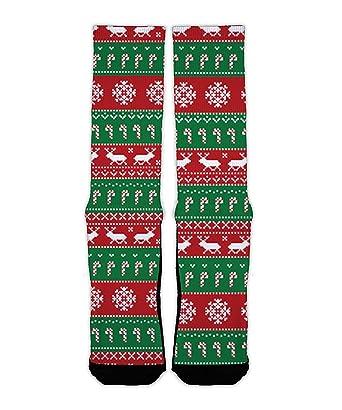 ugly christmas sweater league ready custom socks small - Custom Christmas Sweater