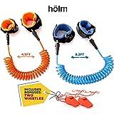 Toddler harness walking leash- child anti lost wrist link - child safety harness - 2 pack (4.9ft & 8.2ft )- child safety wrist link - 2 Bonus Whistles