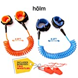 Amazon Price History for:Toddler harness walking leash- child anti lost wrist link - child safety harness - 2 pack (4.9ft & 8.2ft )- child safety wrist link - 2 Bonus Whistles