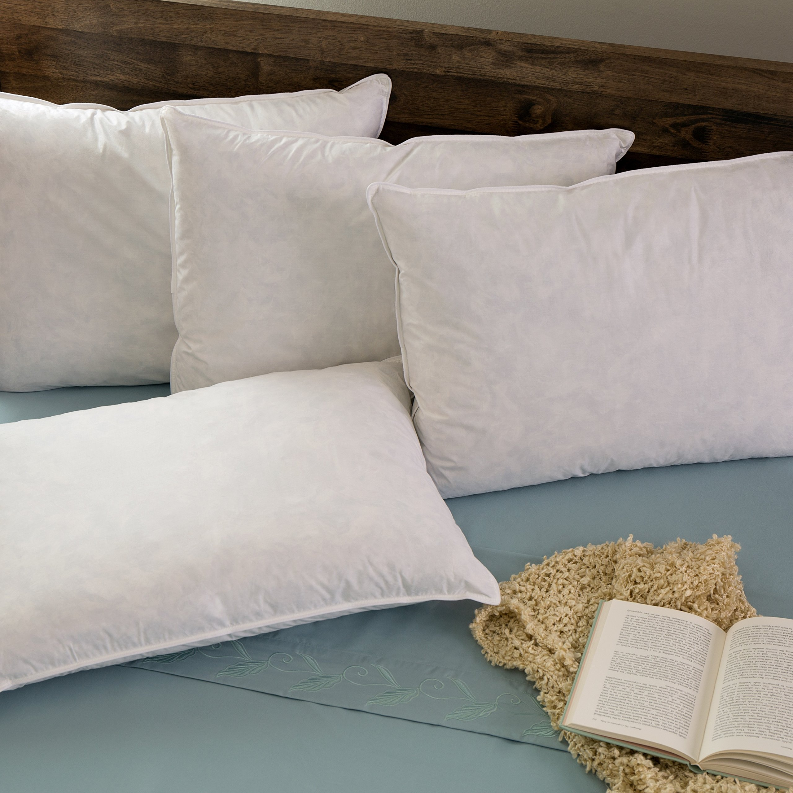 Hotel Madison TruLoft Medium Firm Feather Pillow (Set of 4) King by Hotel Madison (Image #2)