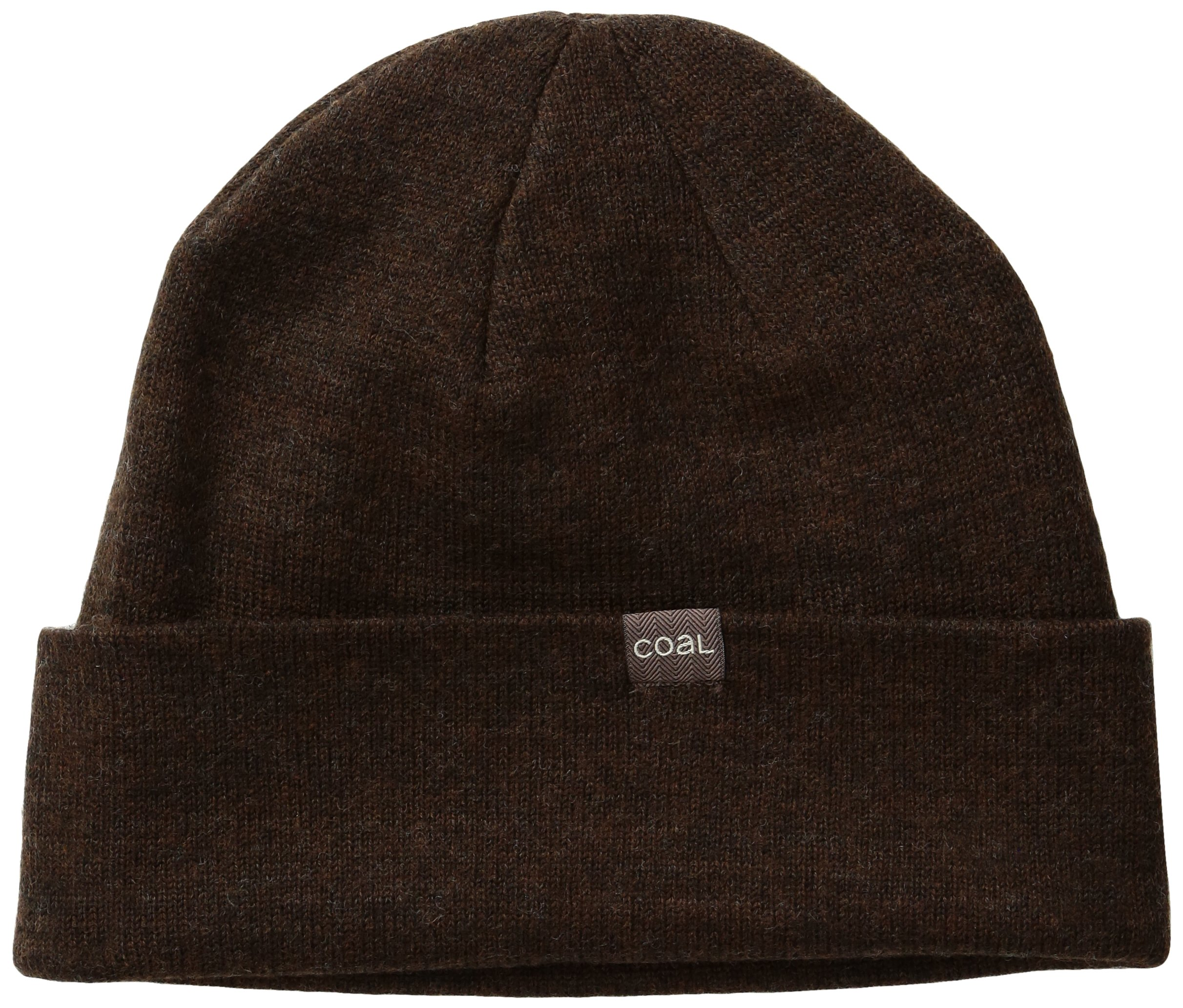 Coal Men's The Mesa Ultra Fine Knit Merino Wool Beanie Hat, Brown, One Size