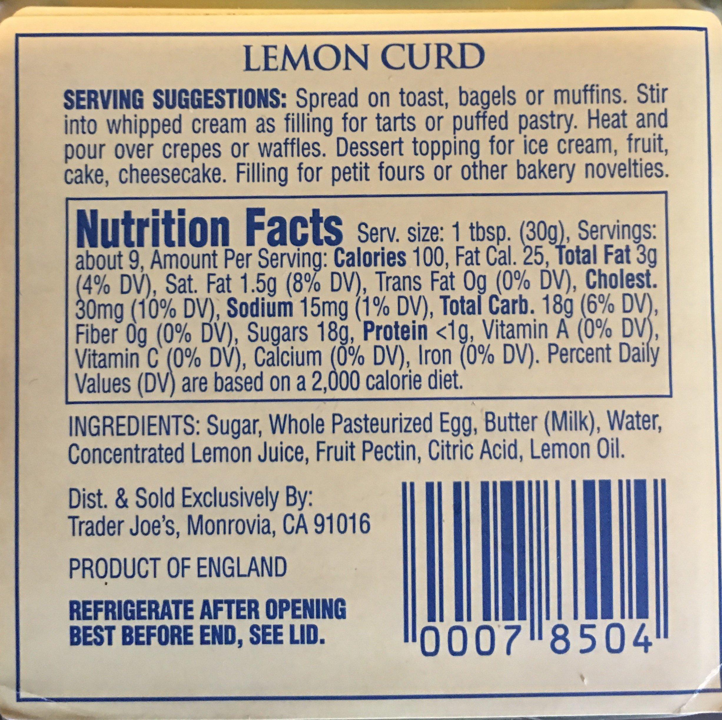 Trader Joes Lemon Curd (Pack of 2)