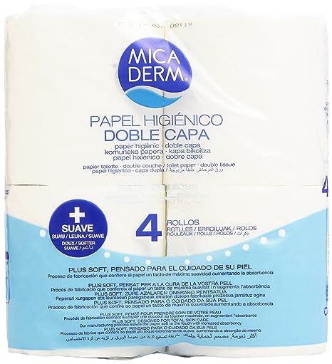 Mica Derm Papel Higiénico con Doble Capa - 4 Rollos