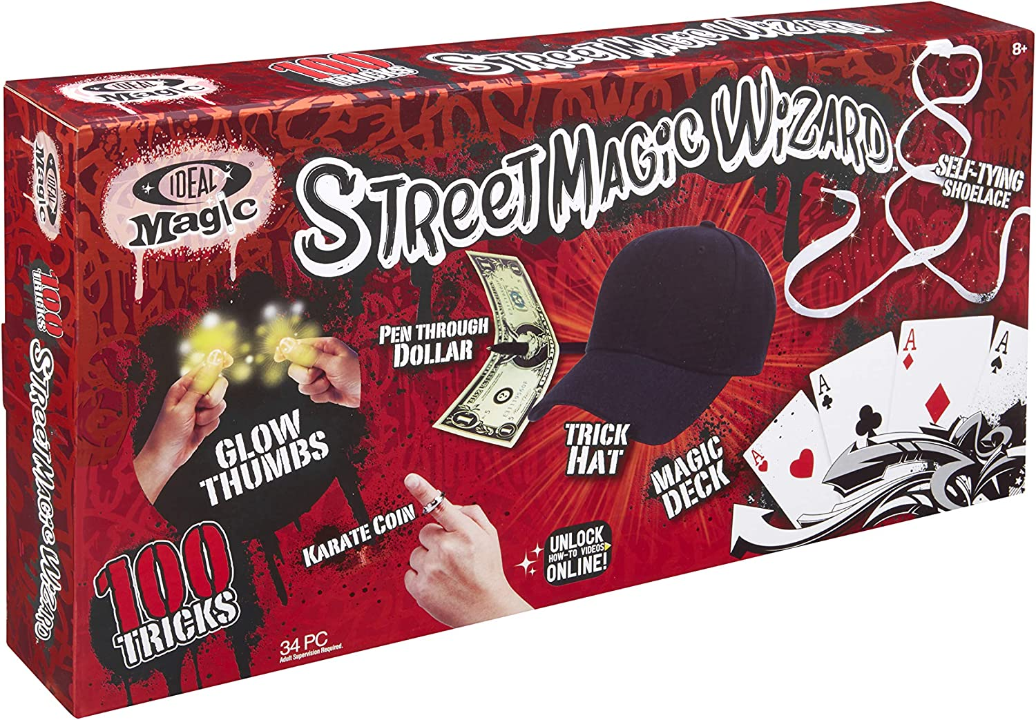 Ideal Magic Street Magic Wizard 100 Tricks Kids Magic Set