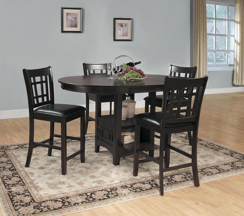Heavy Duty Folding Picnic Table, Amazon Com Homelegance Junipero Casual Dining Room Set With Dining Table And Dining Chair Table Chair Sets