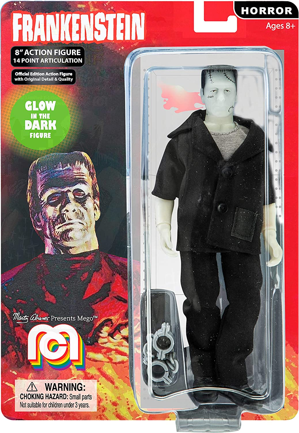 """B/&W 8/"""" Frankenstein Mego Action Figures Limited Edition Collector/'S Item"""
