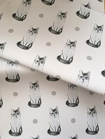 4 B/ögen Katzen The Art File Geschenkpapier