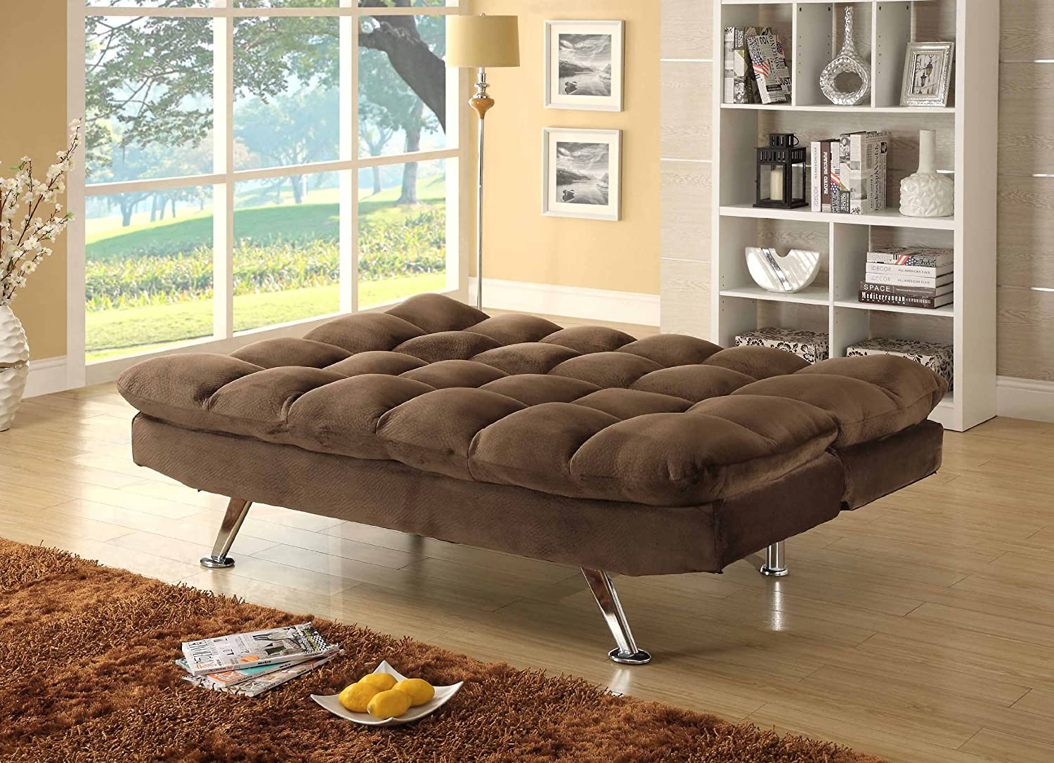 Superieur Amazon.com: Homelegance Jazz 4809CH Convertible/Adjustable Sofa Bed,  Chocolate Brown: Kitchen U0026 Dining