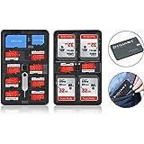 digiant Carte mémoire étui de rangement léger Support carte SD Boîte de transport Convient pour cartes SD TF Cartes SIM Nano Micro