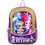 NICKELODEON Shimmer and Shine Feel Divine 16 inch Purple and Gold Backpack