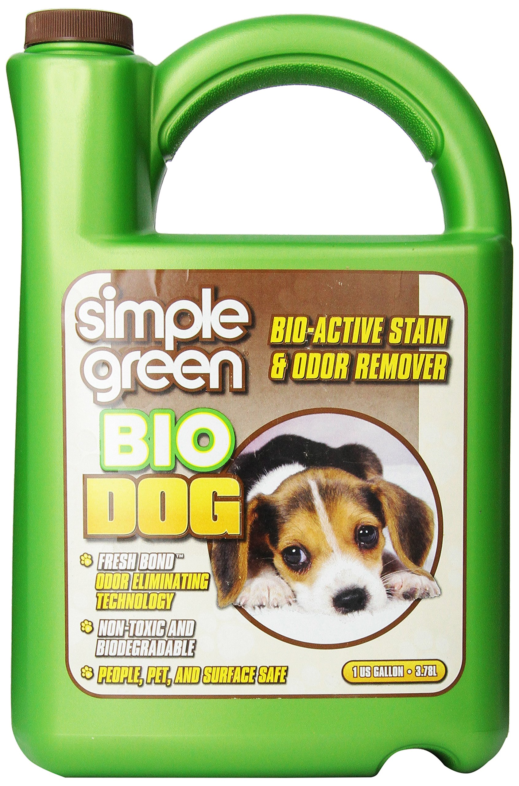 Simple Green Bio Active Stain and Odor Remover 1 Gallon Refill For Pet and Carpet- Non-Toxic, Pet and People Safe