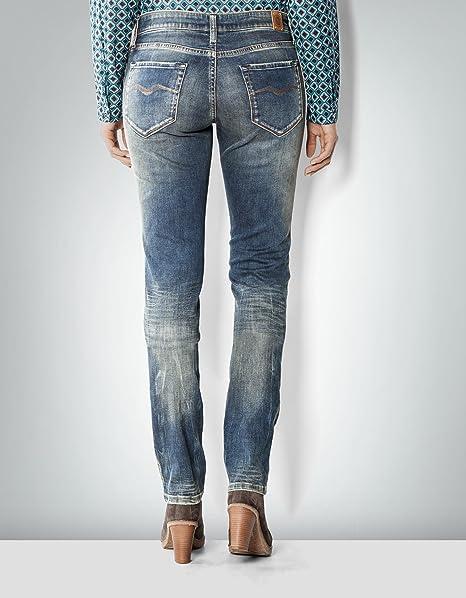 Replay Damen Jeans Baum Wolle Denim-Hose Unifarben, Größe: 27/32, Farbe:  Blau: Amazon.de: Bekleidung