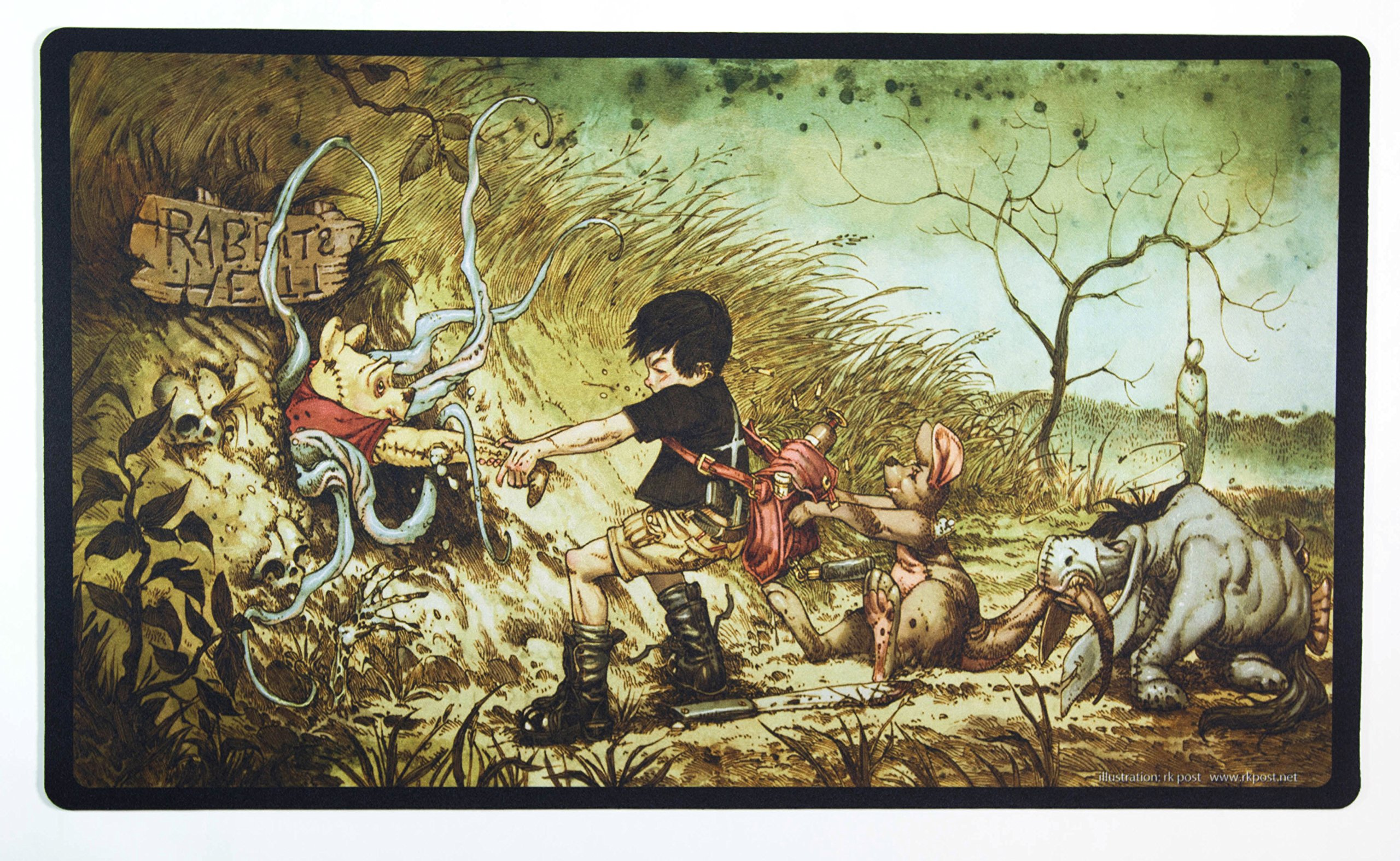 Inked Playmats Hundred Acre Hell Card Playmat - Inked Gaming Perfect for Card Gaming TCG Game Mat