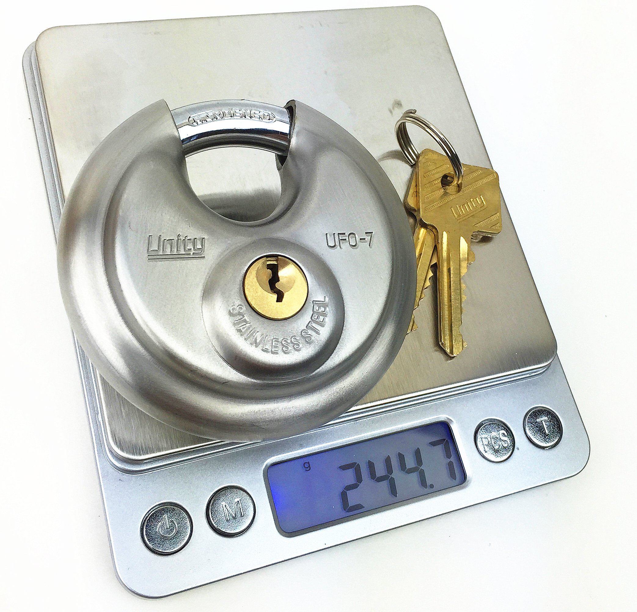 24pcs Key Differ Disc Padlock 2-3/4'', Stainless steel, Trailer lock, Storage lock, Round lock