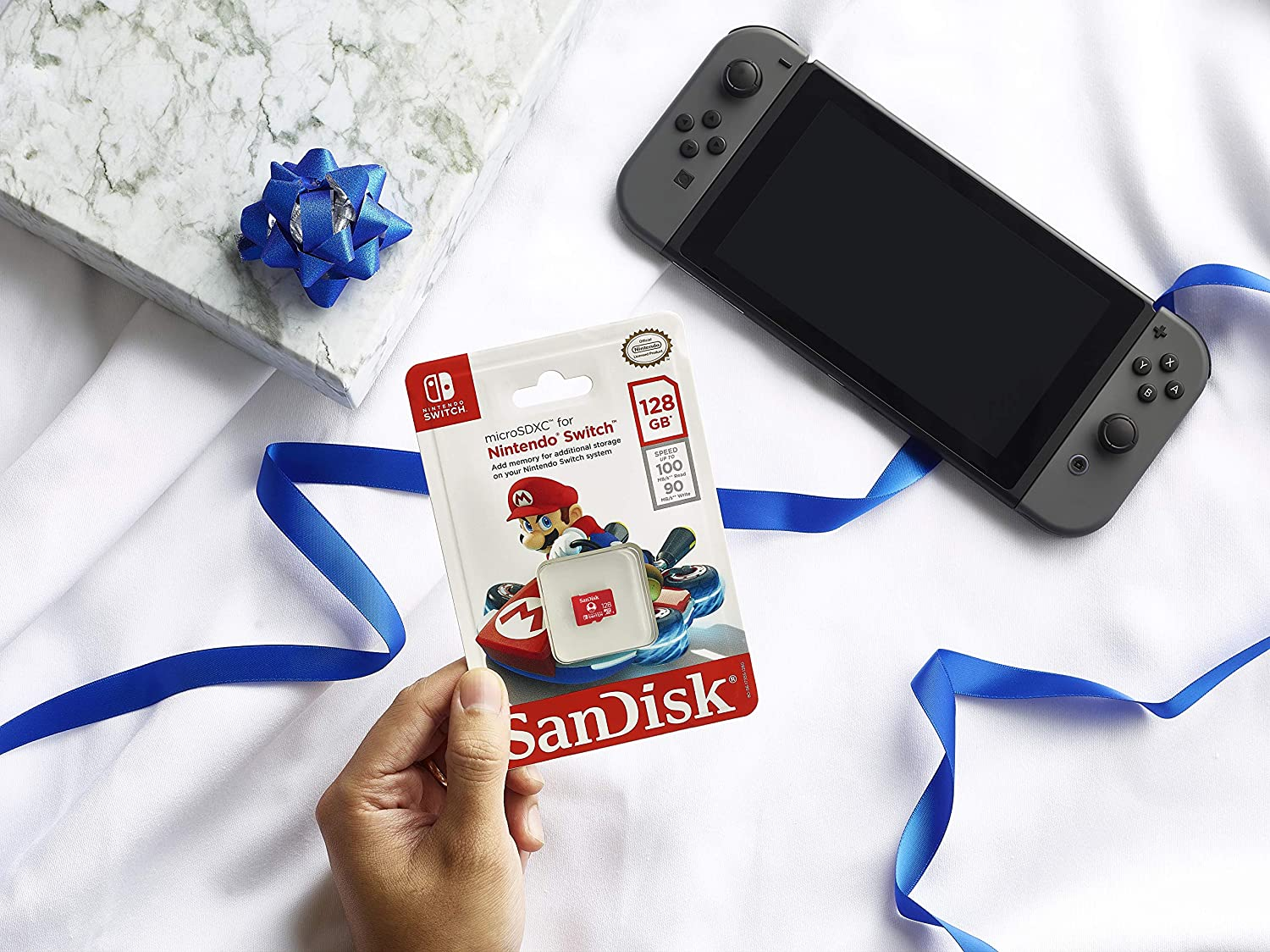 SanDisk 128GB microSDXC UHS-I-Memory-Card for Nintendo-Switch - SDSQXAO-128G-GNCZN: Computers & Accessories