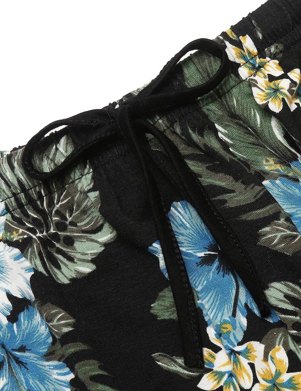 Ekouaer Pajamas Womens Cami Pajama Set Sleeveless Sleepwear Racerback PJ Set Soft Floral Tank Top Set with Shorts