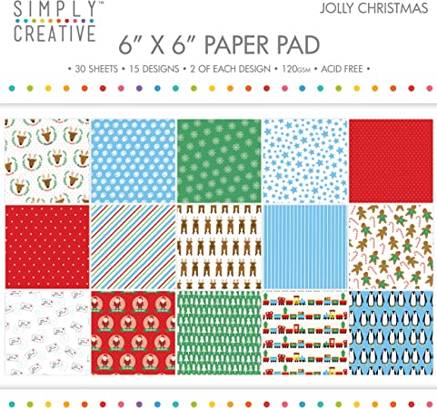 Premium Craft Paperstock Simply Creative 6x6 All Wrapped Up Scrapbook Paper