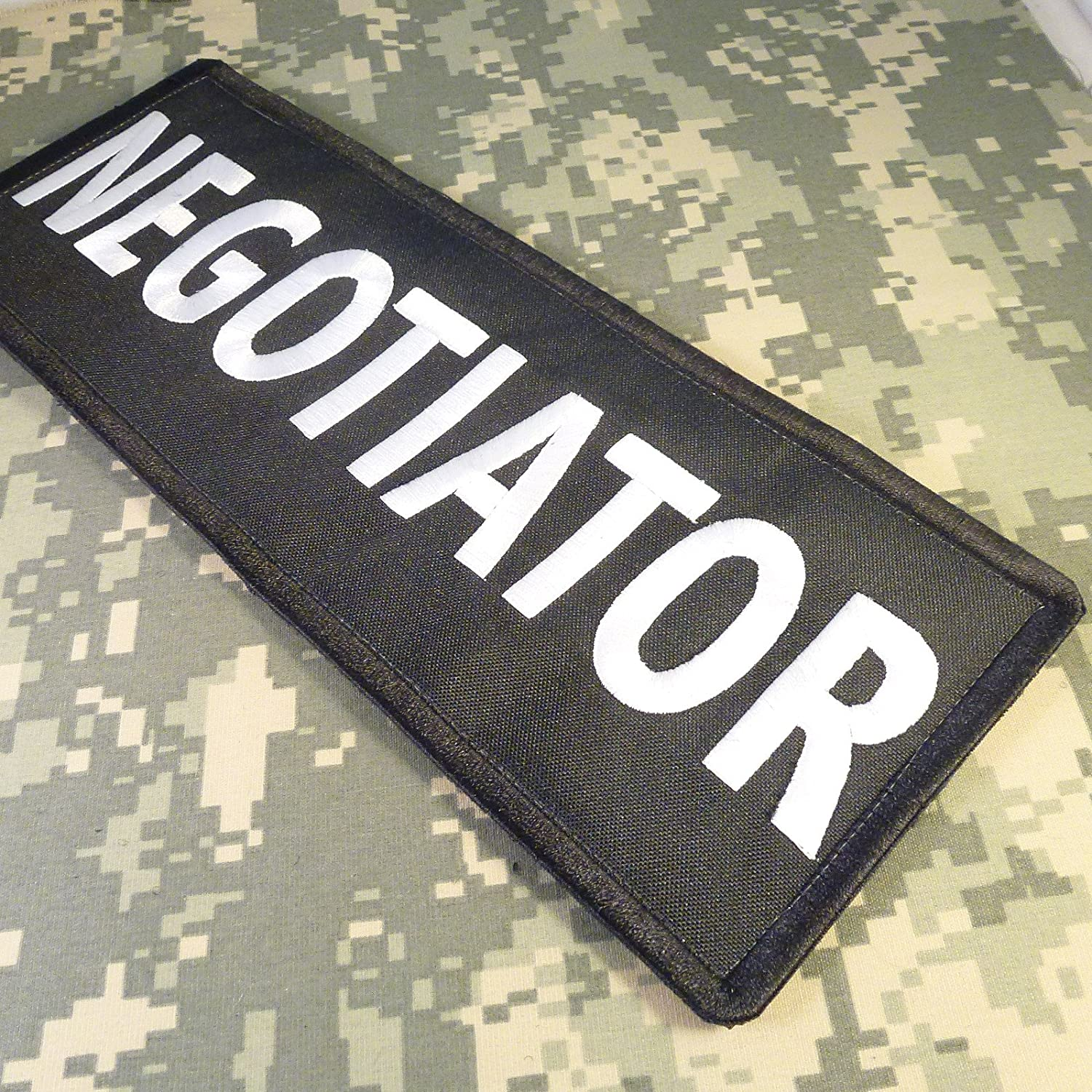 NEGOTIATOR Big XL 10x4 inch SWAT POLICE Vest Tactical Embroidered Nylon Fastener /Écusson Patch