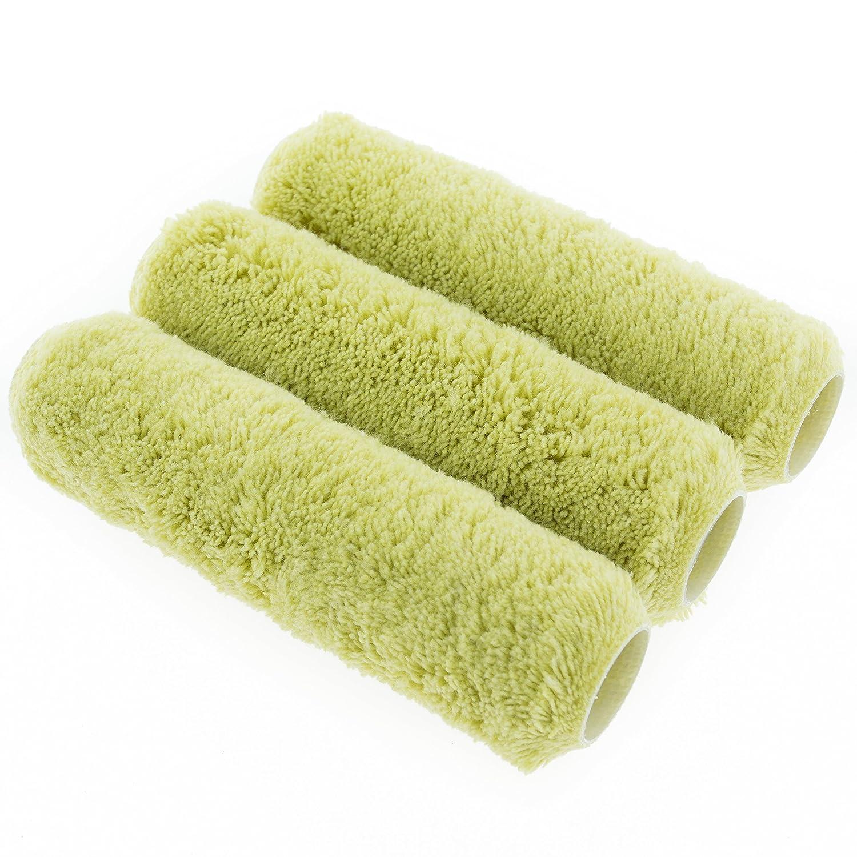Outils de corail Corail l'accessoire Endurance couvertures de rouleau de peinture avec une à poil long Acrylique manches Tissu pour maçonnerie Lot de 3Pièces–Vert (3Pièces) Coral Tools Ltd 41701