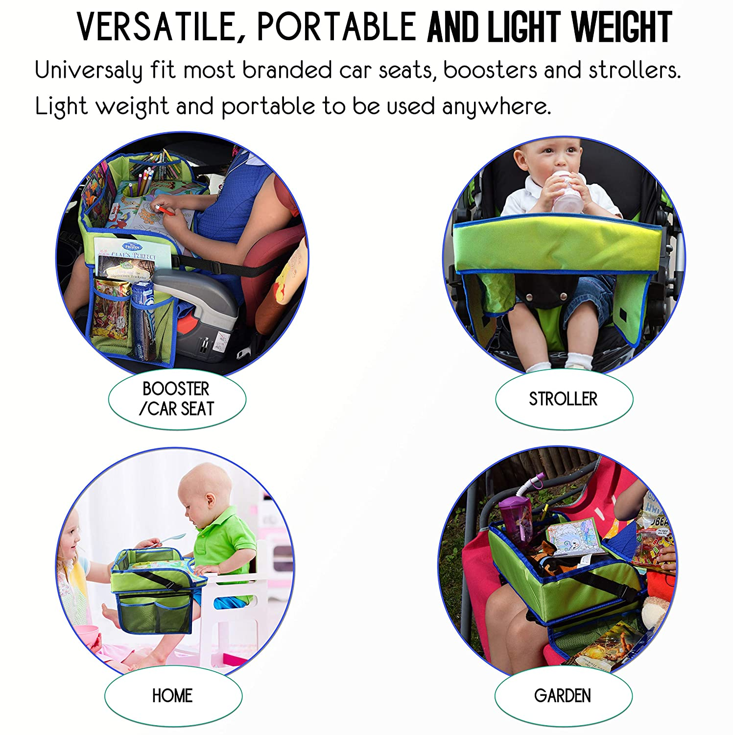 Keep Toddlers Occupied for Hours Kids Travel Play Tray-Perfect Car Seat Travel Tray and Accessories for Airplane Activities for Kids Anti-Bacteria Coating Surface Sturdiest /& Most Comfortable Tray