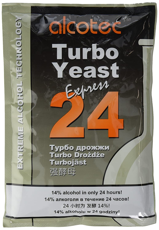 Alcotec 24 Pure Turbo Yeast 14/% 24hrs Homebrew Moonshine Vodka destilaci/ón de Lavado