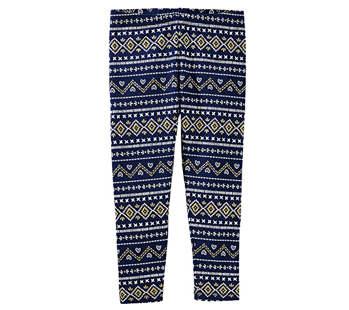 858d3be92 OshKosh B Gosh Girls  4-8 Fair Isle Leggings 4  Amazon.ca  Clothing ...