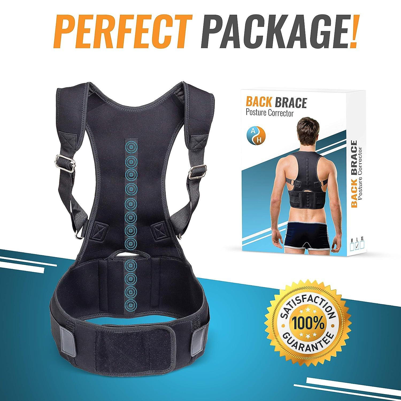 Large Back Brace Posture Corrector for Women /& Men New 2019 A//H