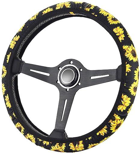 Amazon.com: Funda para volante de girasol Zadin | Bonita y ...