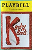 Brand New Color Playbill from Kinky Boots at the Al Hirschfeld Theatre starring Callum Francis Andy Kelso Daniel Stewart Sherman Tiki Barber (Only A shared Insert with his Bio and headshot ) Carrie St. Louis Marcus Neville Caroline Bowman Music and Lyrics